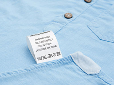 CARE LABELS FOR CLOTHING